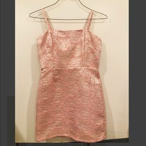 Forever 21 Pink and gold mini dress